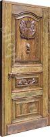 Двери  парадные из массива дуба